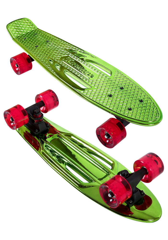 Pennyboard Karnage Chrome green