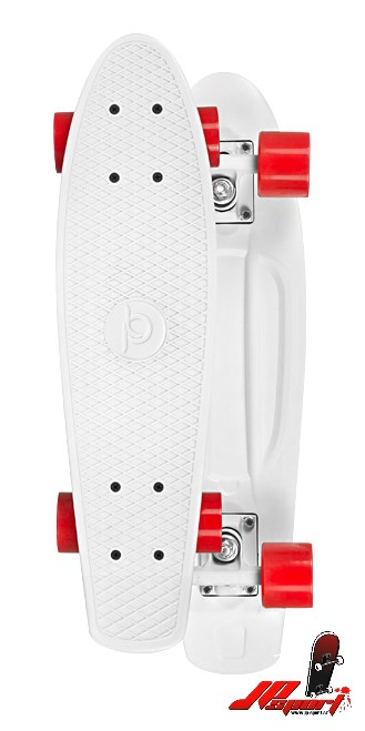 Pennyboard Playlife Vinyl Board White