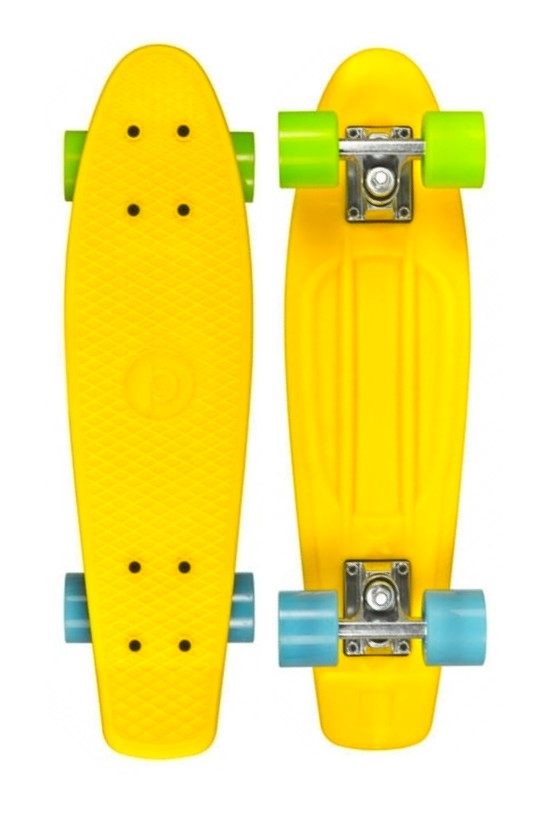 Pennyboard Playlife Vinyl Board Yellow