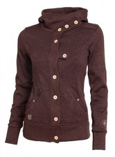 Dámská mikina Woox Tune Fleece Ladies´ Button brown