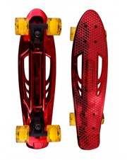 Pennyboard Karnage Chrome red